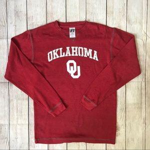 Oklahoma Sooners Red Thermal Shirt Size Medium